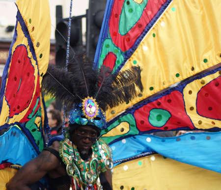 London, England - 30 August 2010 - Man in costume taking part in the parade at the Notting Hill Carnival Stock Photo - 7798351
