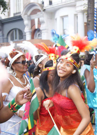 London, England - 30 August 2010 - Woman in costume taking part in the parade at the Notting Hill Carnival Stock Photo - 7798512