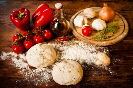 Pizza dough Stock Photo