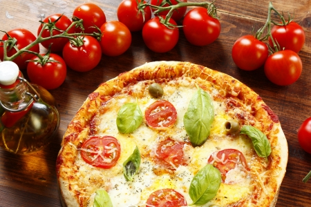 Italian Pizza Margherita Stock Photo - 14972022
