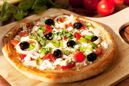 homemade style: Greek Style Pizza Fresh Homemade Pizza