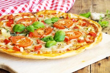 Fresh homemade pizza Zdjęcie Seryjne