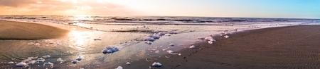 Sonnenuntergang am Strand  Deutschland, St. Peter-Ording