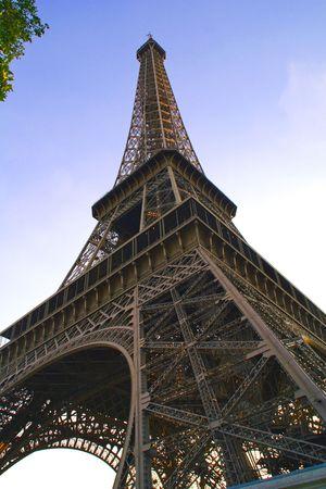 Eiffel tower taken at dusk