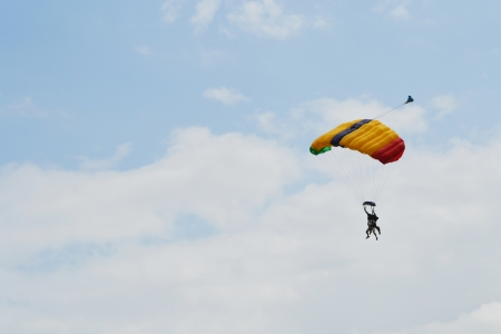 Skydiver with open parachute Stock fotó - 24734301