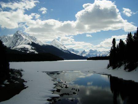Lago maligne, in Canada