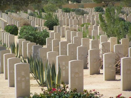 cemetry: British Cemetry, El Alamein Stock Photo