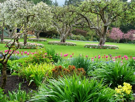 Spring in Butchart Gardens, Victoria, Canada Stock Photo - 2668340