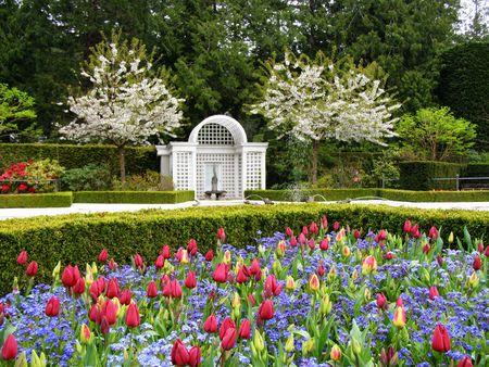 Primavera in Butchart Gardens, Victoria, Canada Archivio Fotografico