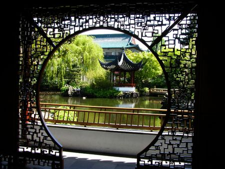 Dr Sun Yat-Sen Chinese Garden, China Town, Vancouver, Canada Stock Photo