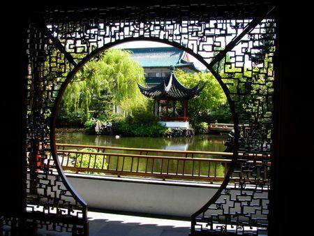 Il Dott Espone al sole Yat-Sensore Il Giardino Cinese, Citt� Della Cina, Vancouver, Canada