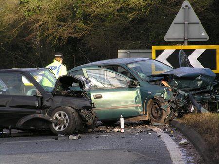accidente transito: Accidentes de tr�nsito  Foto de archivo