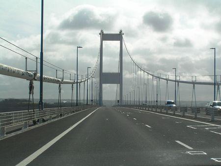 severn: Old Severn Bridge Stock Photo