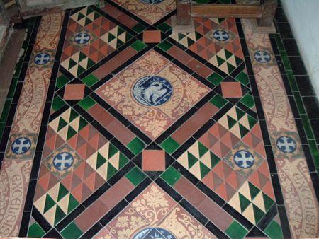 cruis: Floor of Rug Chapel, North Wales
