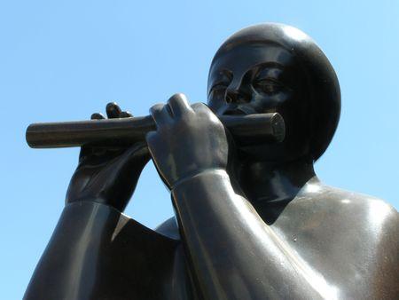 Flute Playing Statue, San Jose, Costa Rica photo