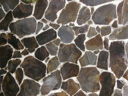 howler: Crazy Paved Wall, Costa Rica Stock Photo
