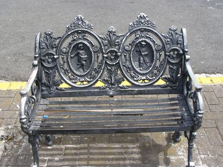 canal parade: Ornate bench, San Jose, Costa Rica