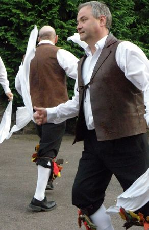 hanky: Morris Men Dancing Stock Photo