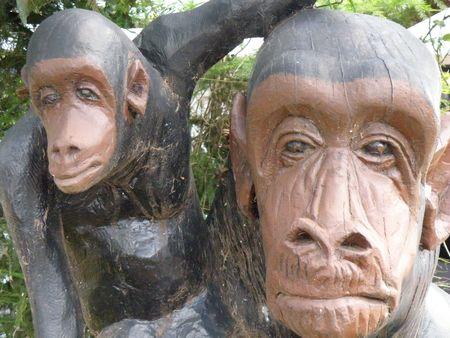 Kenya Safari, Carved Monkeys Stock Photo - 3815664