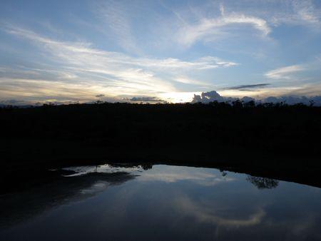 lake nukuru: Kenya Safari, Sunset at Treetops