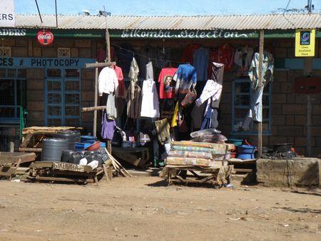 lake nukuru: Roadside Market Shop in Kenya
