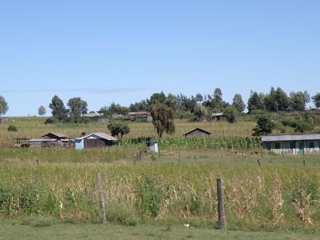 lake nukuru: Village in Kenya