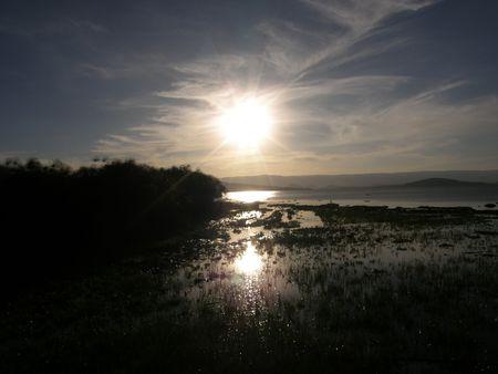 lake naivasha: Kenya Safari, Sunset over Lake Naivasha