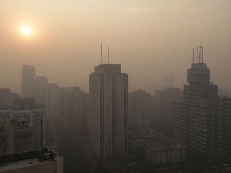Tramonto (?!) A Nuova Delhi, anche se lo smog