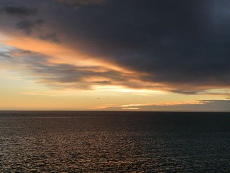 strait of magellan: Sunrise over the Strait of Magellan
