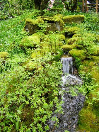 Butchart Gardens, Victoria, Canada in the Spring - Waterfall Stock Photo - 4727340