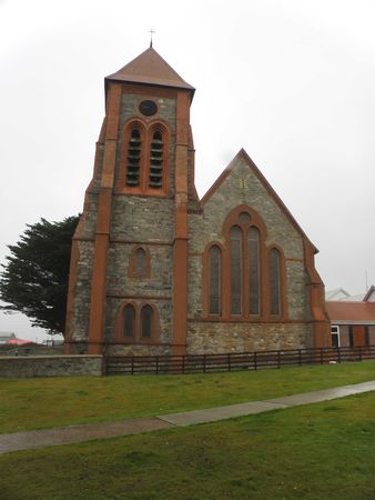 port stanley: Cathedral in Falkland Islands, Port Stanley Stock Photo