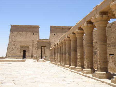 Philae Temple Aswan River Nile Egypt photo