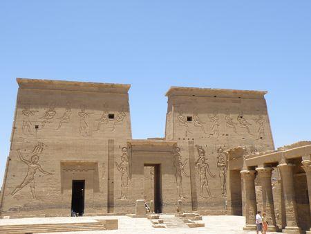 Philae Temple Aswan River Nile Egypt Stock Photo - 4983804