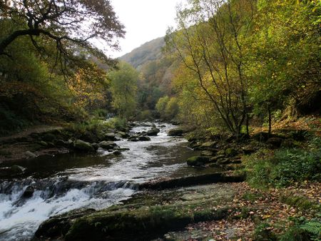 exmoor: Watersmeet Exmoor Stock Photo