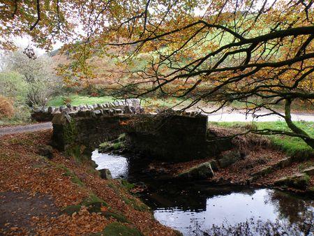 exmoor: Robbers Bridge Exmoor Stock Photo