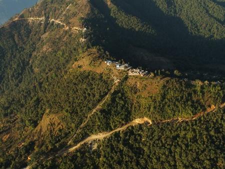 pokhara: Pokhara from Microlight