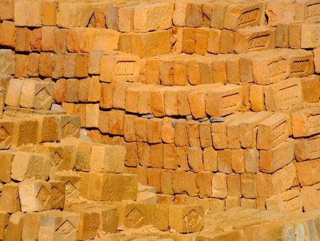 pokhara: Brick stack in Pokhara Stock Photo