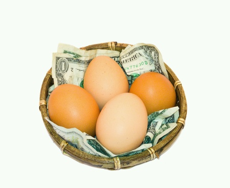 frail: Eggs in a basket - US Dollars