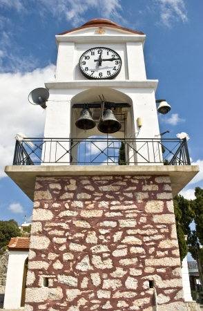 skiathos: Clock tower on Skiathos island, Greece