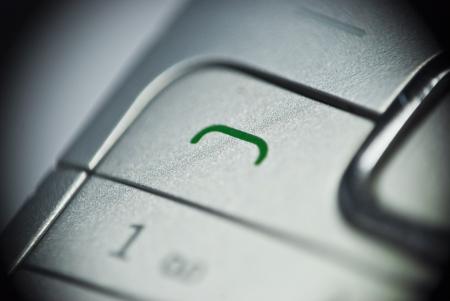 Telephone green button