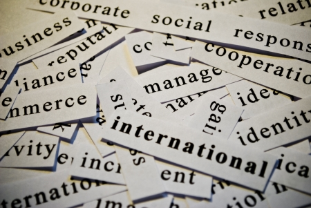 International, cut-out of words related with business  Stock Photo - 17753268