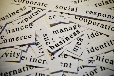 Business, cut-out of words related with business photo
