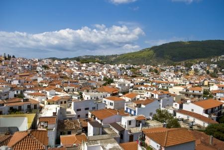 skiathos: Roof tops on Skiathos island, Greece