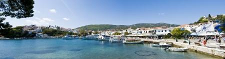 skiathos: Panorama of Skiathos island, Greece Editorial