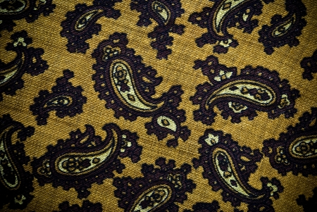 Turkish or Indian patterned paisley material background or texture photo