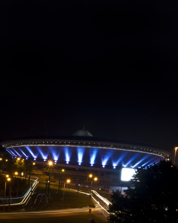 Spodek, famous sport and cultural event arena in Katowice, Poland