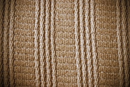 Brown woven striped material background or texture Stock Photo - 21538727