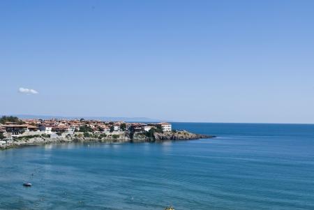 Landscape of bay in Sozopol, Bulgaria  View on the Black Sea