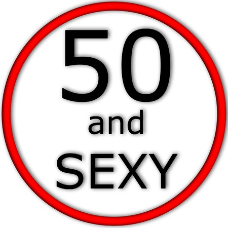 Funny concept of traffic or road sign with age value