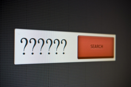 Internet search bar with question marks Stock Photo - 22519715